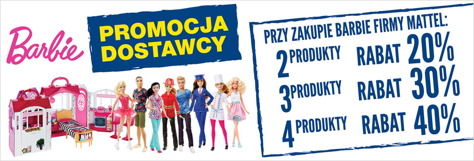 Barbie firmy Mattel z rabatem do 40%