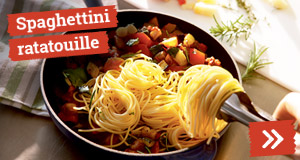 Spaghettini ratatouille