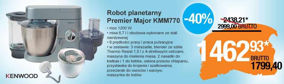 Robot planetarny Premier Major KMM770 Kenwood