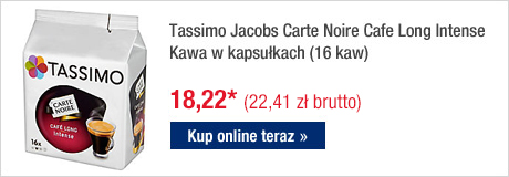 Tassimo Jacobs Carte Noire Cafe Long Intense Kawa w kapsułkach
